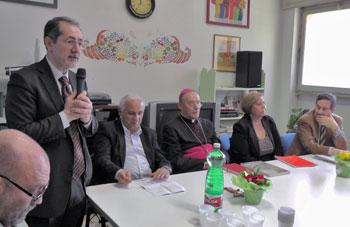 Un momento dell'intervento del presidente nazionale delle Acli Gianni Bottalico