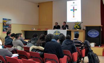 Assemblea diocesana di Azione cattolica: da sinistra Franco Miano e Alessandro Moretti