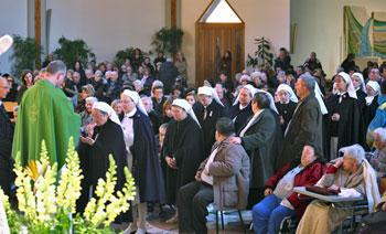 La Giornata del malato celebrata nella chiesa di Santa Lucia nel 2009