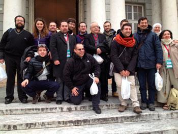 Foto di gruppo della delegazione regionale umbra al convegno nazionale di pastorale giovanile