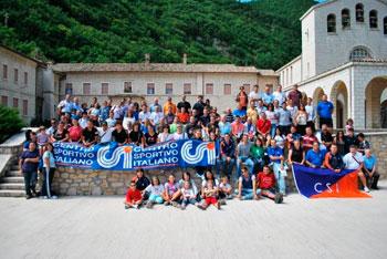 Foto di gruppo a Roccaporena