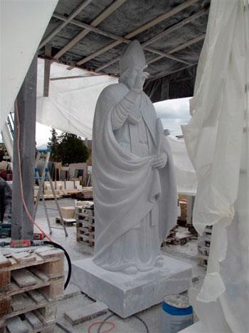 L'ultima lavorazione della statua