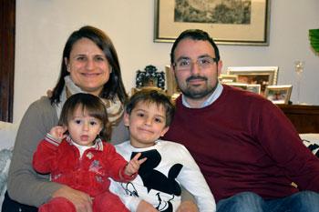 La famiglia Pacchioni al completo