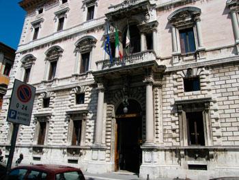 Palazzo Cesaroni sede del Consiglio regionale dell'Umbria