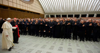 Papa Francesco in aula Nervi ha incontrato il clero della diocesi di Roma