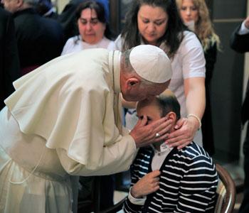 Papa Fancesco in visita al Serafico, 4 ottobre 2013