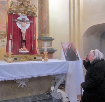 Un momento di preghiera a Casteltodino