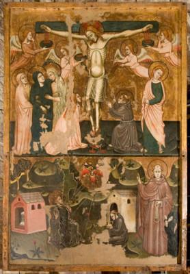 Stendardo processionale della Confraternita di San Leonardo, XIV sec. museo diocesano di Assisi