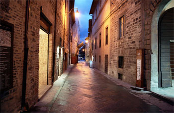Via Cavour nel centro storico di Gubbio