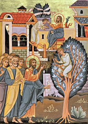 L'incontro di Zaccheo con Gesù