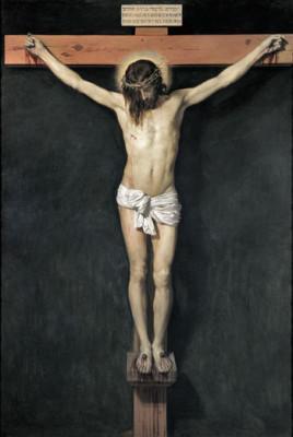 Il celebre Crocifisso dipinto da Diego Velazquez (1631), conservato al Prado di Madrid