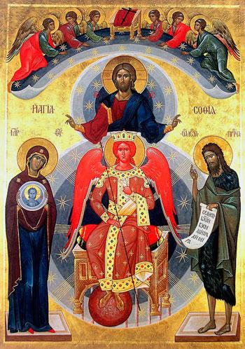 """Icona bizantina della """"Divina Sapienza"""" o """"Sophia"""""""