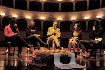 """Il magistrato Raffaele Cantone al Teatro comunale di Città di Castello durante un incontro del festival di letture """"Calibro"""""""