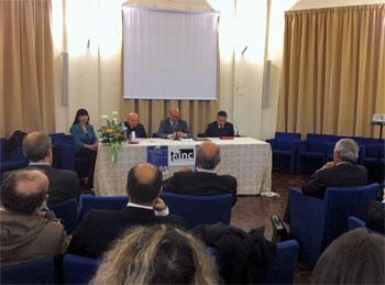 Un momento dell'incontro presso l'Istituto Serafico di Assisi dove si è costituita per atto pubblico notarile l'Ainc, Associazione italiana notai cattolici