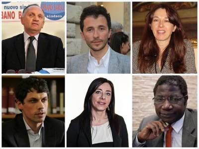 Da sinistra URBANO BARELLI, WLADIMIRO BOCCALI, ADRIANA GALGANO, ANDREA ROMIZI, CRISTINA ROSETTI, DRAMANE D. WAGUÈ