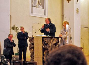Un momento della celebrazione a Madonna delle Grazie