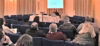 Paolo Benanti durante l'incontro del 29 aprile scorso presso l'Istituto Serafico