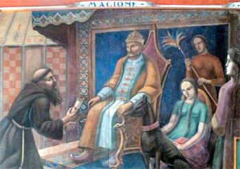 Gerardo Dottori, Giovanni da Pian del Carpine dal Gran Khan dei Mongoli