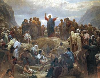 """""""Il sermone della montagna"""" pala d'altare, opera di Ib Rasmussen"""