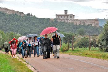 Primo giorno di cammino, da Assisi a Valfabbrica