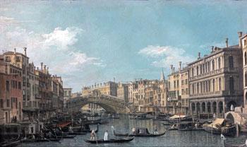 """Canaletto, """"Il Ponte di Rialto"""", una delle due opere che saranno esposte in Galleria"""