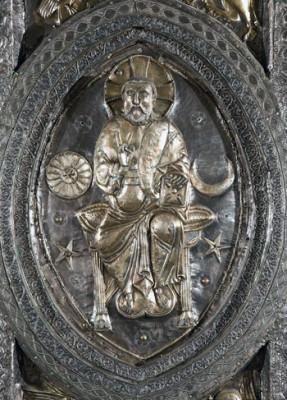 Particolare del Cristo sul Paliotto del duomo