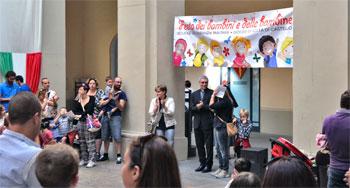 Momenti della festa dei bambini a Città di Castello