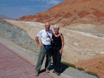 Sergio e Ambretta Biagini durante un pellegrinaggio