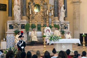 Un momento della celebrazione (Foto di Giorgio Valdisserri)