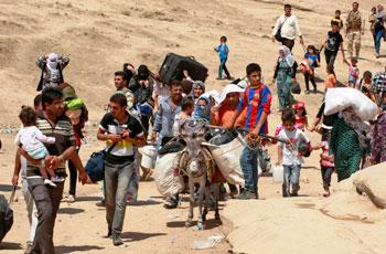 Cristiani perseguitati dall'Isis in fuga dall'Iraq