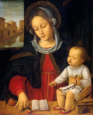 Madonna col Bambino, Ambrogio Bergognone