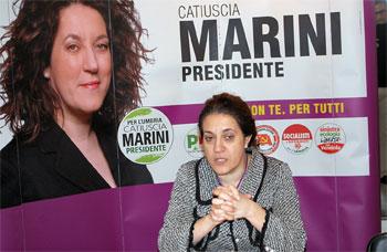 Catiuscia Marini durate la campagna elettorale per le regionali del 2009