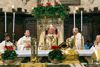 Festa di San Fortunato-Solenne celebrazione della Santa Messa (foto di Giorgio Valdisserri)