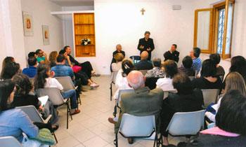 """Uno degli incontri dell'associazione """"Pro familia"""" di Palazzo di Assisi"""
