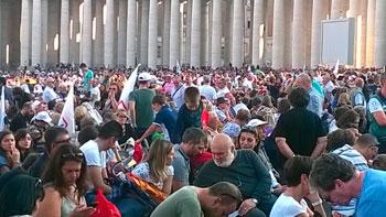 Partecipanti umbri alla veglia di preghiera con il Papa per il Sinodo sulla famiglia