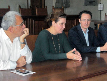 Un momento della conferenza stampa di presentazione delle iniziative su Burri