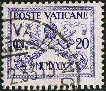 """Un francobollo della serie """"Conciliazione"""" del 1929"""