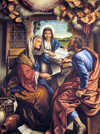 Sant'Anna con Maria bambina e San Gioacchino