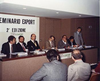 La prima sessione dell'Export nel 1982