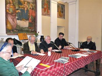 Maria T. Di Stefano, i pastori Gajewski e Genre, il card. Bassetti, padre Ionut Radu, mons. Bromuri