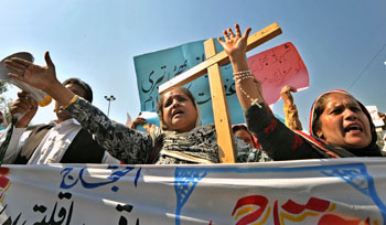Manifestazione di cristiani in Pachistan