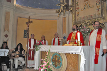 L'inaugurazione della chiesa restaurata