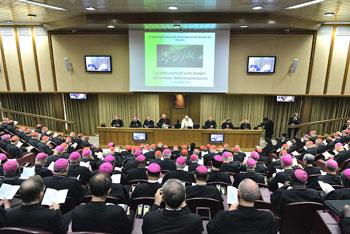 I vescovi riuniti durante il Sinodo straordinario sulla famiglia