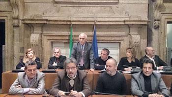 Sala consiliare di Palazzo Spada a Terni, un momento della consegna dei premi Stella d'oro