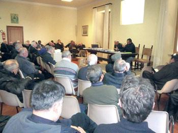Un momento del ritiro mensile del clero della diocesi di Orvieto-Todi