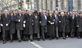 Capi di Stato e di governo a Parigi in marcia contro il terrore