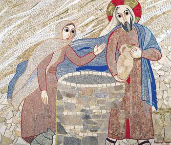 """Gesù con la samaritana al pozzo, Cappella della """"Casa incontri cristiani""""- centro Aletti, Capiago (CO)"""