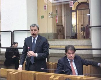 Raffaele Nevi (Forza Italia) e Andrea Lignani Marchesani (Fratelli d'Italia) in Consiglio regionale