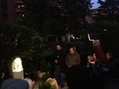 recita rosario a Madonna Alta
