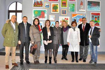 La delegazione in visita al Serafico
